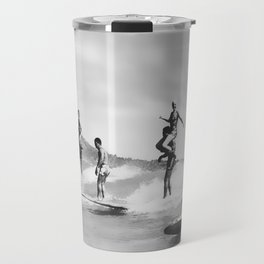 Vintage Surfing in Hawaii Travel Mug