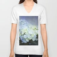 hydrangea V-neck T-shirts featuring Hydrangea Blossoms  by Pure Nature Photos