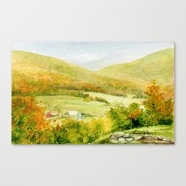 Autumn Fall on a Vermont Town Canvas Print