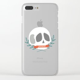 Speechless Skull Clear iPhone Case