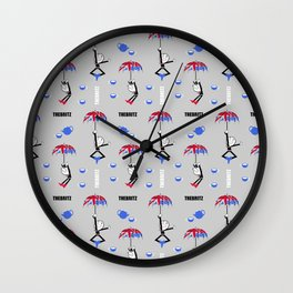 Rainy Dayz Wall Clock