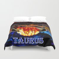 taurus Duvet Covers featuring Taurus by LBH Dezines