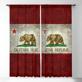California flag - Retro Style Blackout Curtain