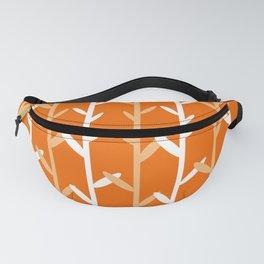 Oat Field Leafy Orange Pattern Fanny Pack