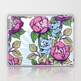 Peony flowers and koalas bears Laptop & iPad Skin