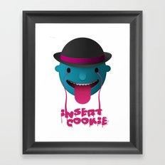 Insert Cookie Framed Art Print