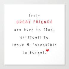 Great Friends Canvas Print