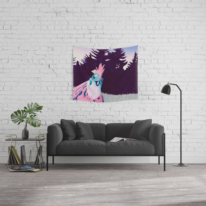 What the Hegg (Pink Version) Wall Tapestry