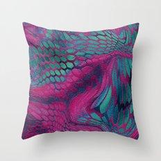 Asia Dragon Scales Throw Pillow