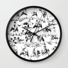 Vintage Wrestling Moves Wall Clock