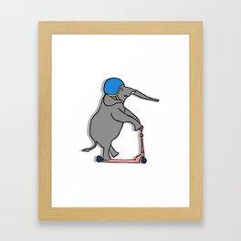 Elephant Playing Framed Art Print