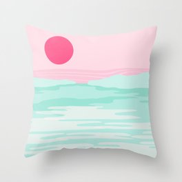 Really - 80s style throwback sunset sunrise west coast socal vibes surfing beach vacation Throw Pillow