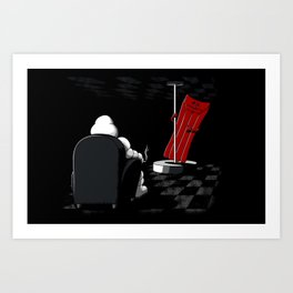 Michelin Striptease Art Print