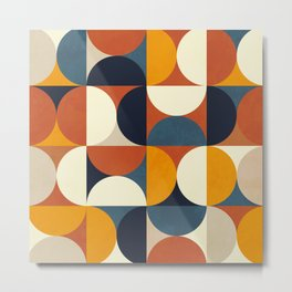 mid century abstract shapes fall winter 3 Metal Print