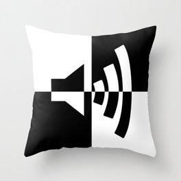 Black and White Sound Throw Pillow
