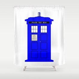 British Police Box Shower Curtain