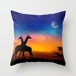 Giraffes Can Dance Throw Pillow