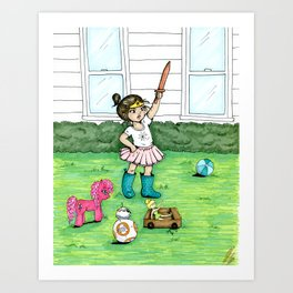 A Girl And Her Army Art Print