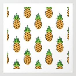 All over pineapple Art Print