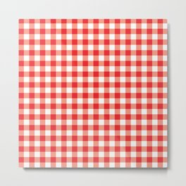 Checkers - Red Metal Print