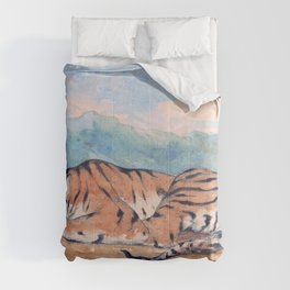 Eugene Delacroix - Royal Tiger - Digital Remastered Edition Comforters