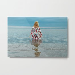 Woman in the Water Metal Print