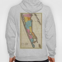 Vintage Map of Suffolk New York (1829) Hoody