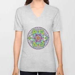 Magnetic Energy Mandala Unisex V-Neck