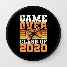 Game Over Class Graduation 2020 Gift Wall Clock