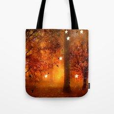 Surreal Fantasy Fairy Tale Woodlands Nature Trees Stars Print Tote Bag