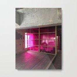 Pink Neon Metal Print