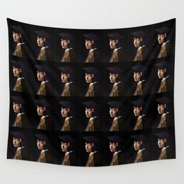 Girl with the Grad Cap Wall Tapestry