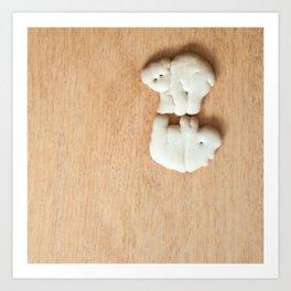 Animal Crackers - wood3 Art Print
