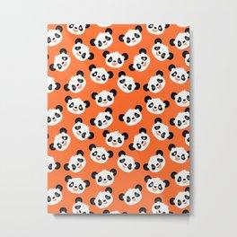 Happy Pandas Metal Print