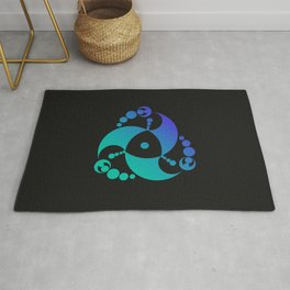 Trinity | Alien crop circle | Sacred geometry Rug