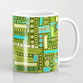 Mid-Century Modern Maze ~ Aqua & Forest Coffee Mug