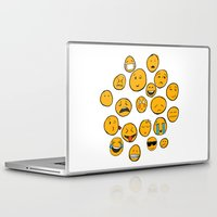 emoji Laptop & iPad Skins featuring Emoji Family by Jason Travis