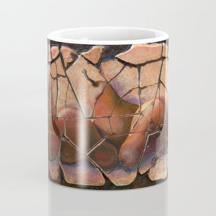 The Pears Fresco With a Crackle Finish #Society6 Coffee Mug