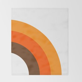 Harvest Rainbow - Right Side Throw Blanket