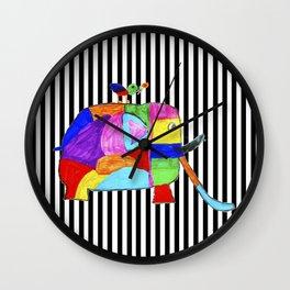 Rainbow Elephant by Elisavet | #society6 Wall Clock
