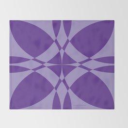 Abstract Flower Diamond Throw Blanket