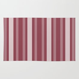 Dark Rose Victorian Lady Stripe Rug