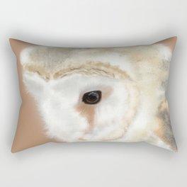 Pensive Barn Owl Rectangular Pillow
