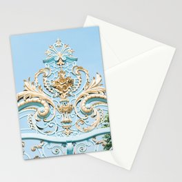 Royal Blue Gate in Paris, France Stationery Cards