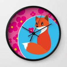 little fox Wall Clock