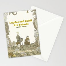 Legolas and Gimli Are Friends Stationery Cards
