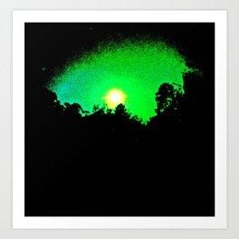 green moon Art Print
