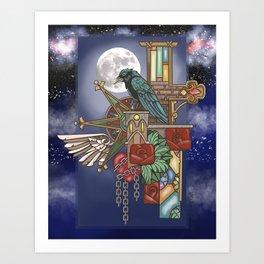 Ravens Moon Art Print