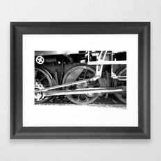Train wheel Framed Art Print
