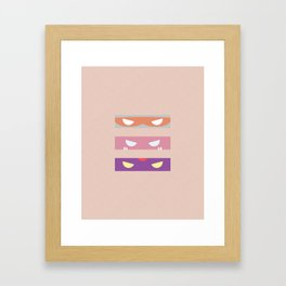 Teenage Minimal Ninja Baddies Framed Art Print
